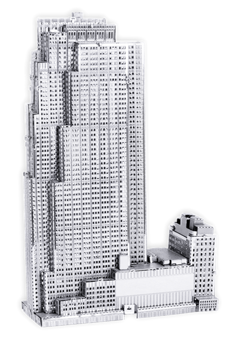 Rockefeller Plaza 3D Metal Model Kit