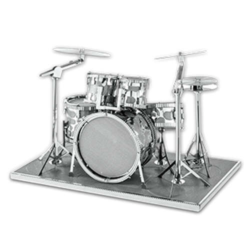 Drum Set 3D Metal Model Kit