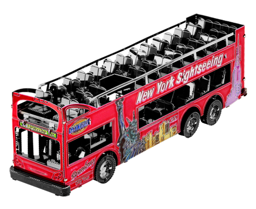 Big Apple Tour Bus 3D Metal Model Kit