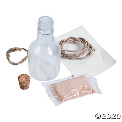 Plastic Message In A Bottle Necklaces 12 Pieces/Set