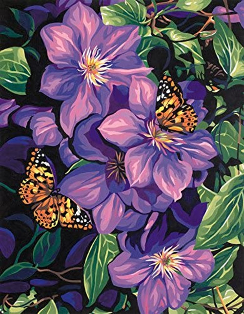 Paint by Number Clematis & Butterflies