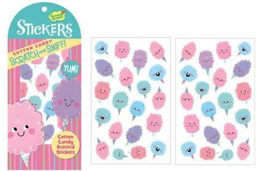 Scratch and Sniff Cotton Candy Scented Sticker Pack