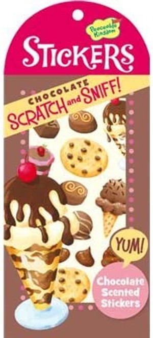 Scratch and Sniff Chocolate Scented Sticker Pack