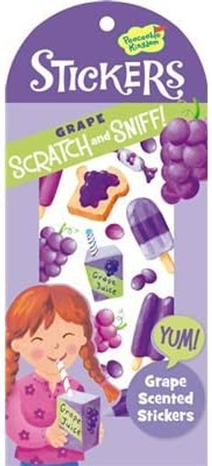 Grape Scented Scratch and Sniff Sticker Set