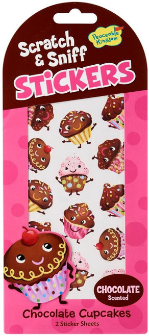 Scratch and Sniff Chocolate Cupcake Scented Sticker Pack