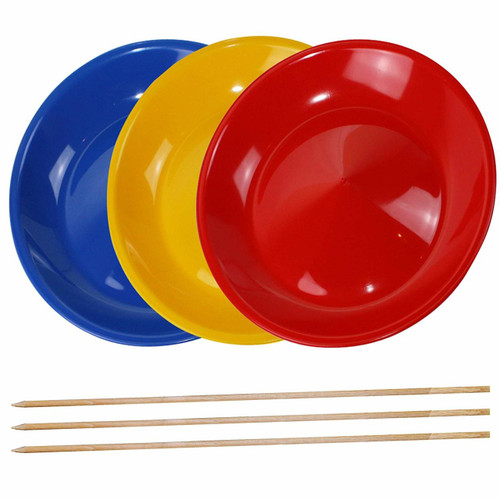 Spinning Plates / Juggling Plates with Wooden Sticks