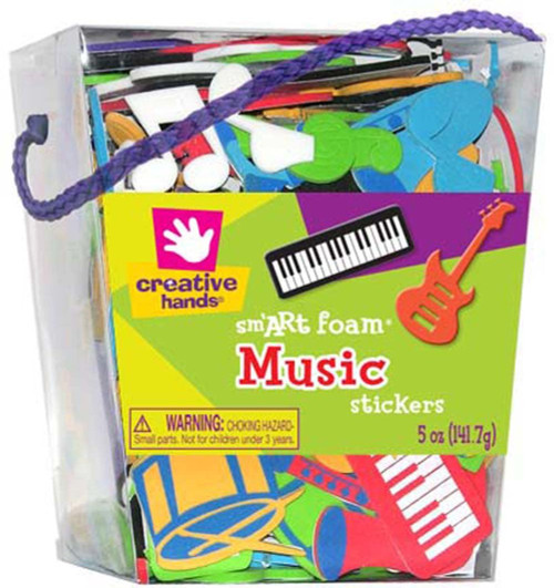 Foam Sticker Bucket Music