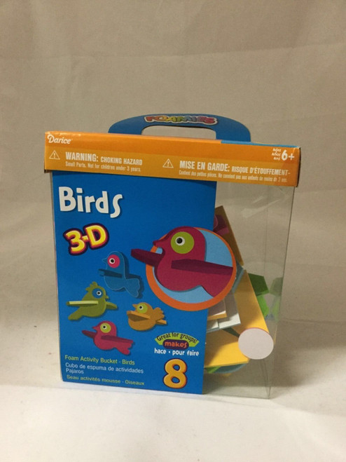 3-D Foam Busy Bucket Birds Makes 8