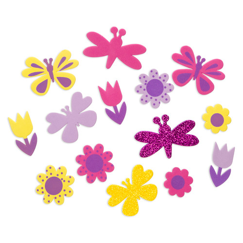 Foam Sticker Bucket Butterfly Garden