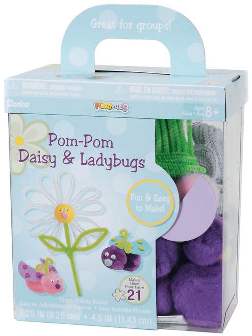 Foam Pom Pom Daisy And Ladybugs Makes 22