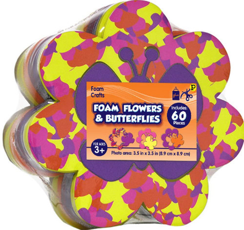 Foam Flowers & Butterflies