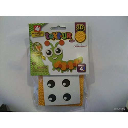 3d text-ur foam stick and stack caterpillar Makes 4