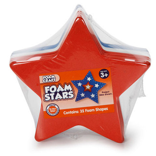 Foam Star Foam Craft Base Red/White/Blue