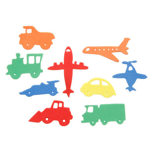 Foam Planes,Trains and Autos Stickers