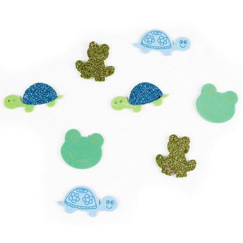 Foam Stickers Confetti Turtles & Frogs