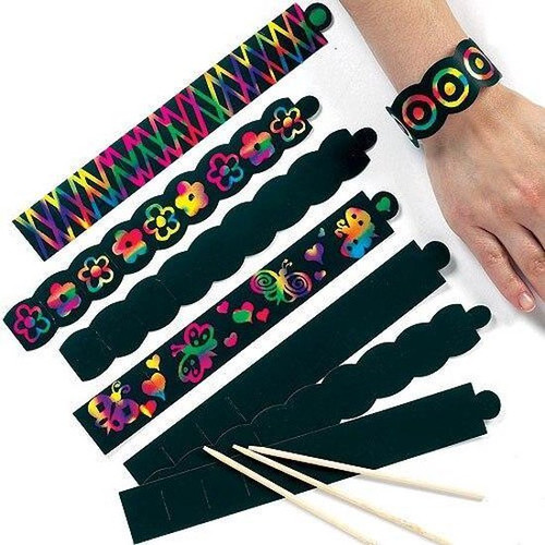 Scratch Art Bracelets Set of 12