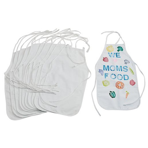Blank Canvas Aprons Set of 12