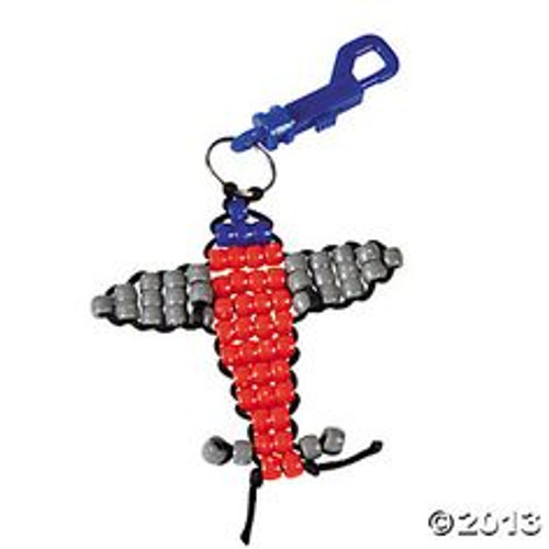 Beaded Airplane Clip Craft Kit Makes 12