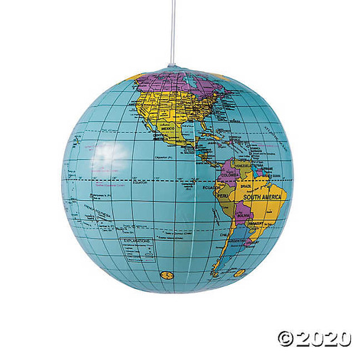 Inflatable World Globes Set of 12