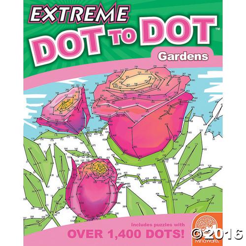 Extreme Dot to Dot Garden Book