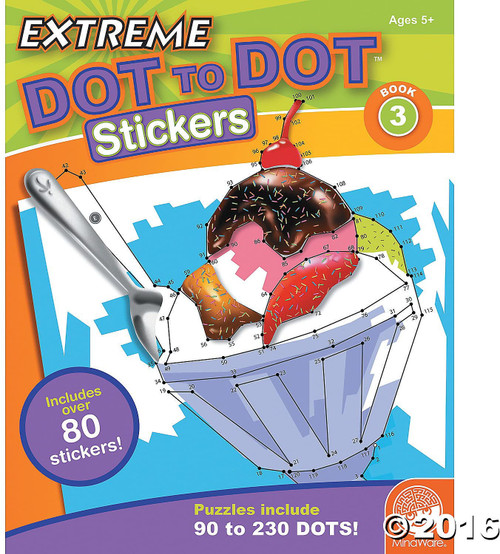 Extreme Dot to Dot Stickers Book 3