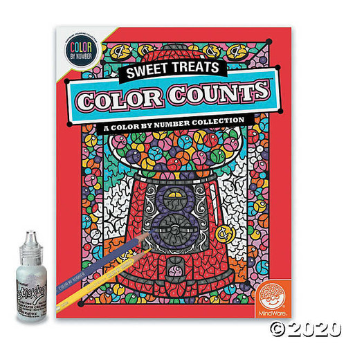 Color by Number Color Counts Glitter Sweet Treats
