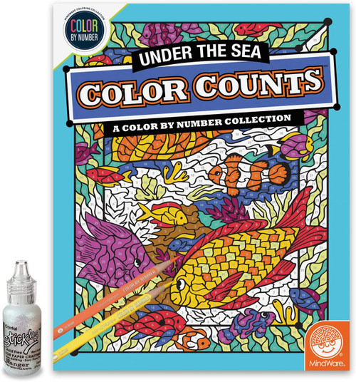 Color by Number Color Counts Glitter Under The Sea