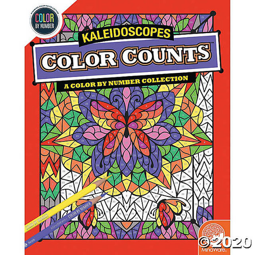 Color by Number Color Counts Kaleidoscope