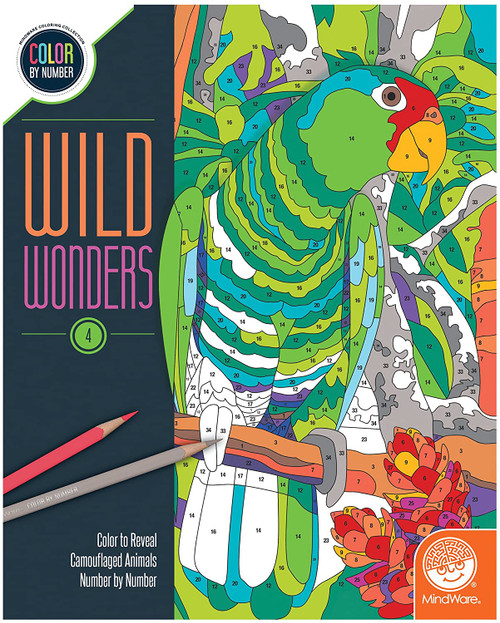Color by Number Wild Wonders Book 4