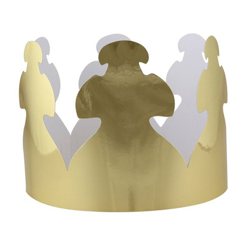 Bright Gold Tag Crown Set of 24