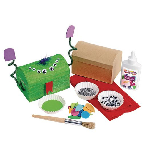 Decorate Your Own Papier-Mache Treasure Chests Set of 12