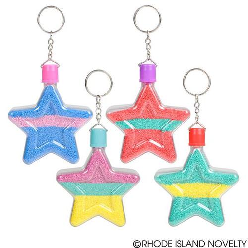 Star Sand Art Bottle Keychains Set of 12