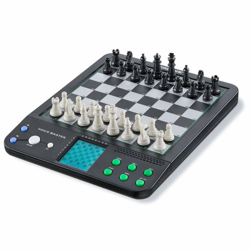 Electronic Chess and Checkers Set with 8-In-1 Board Games