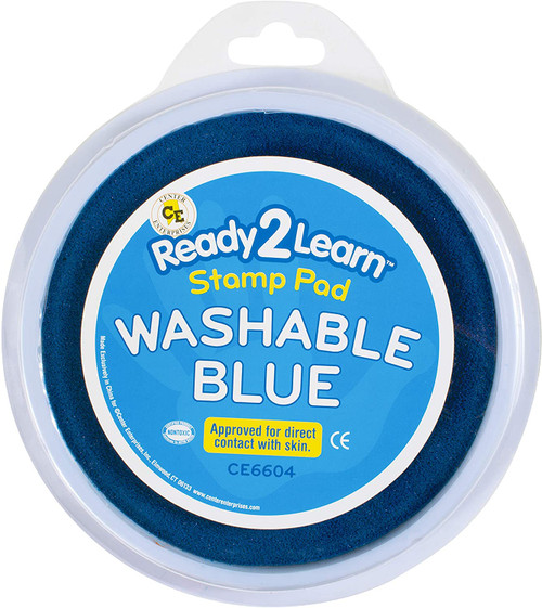 Jumbo Circular Washable Stamp Pad Blue
