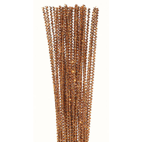 Tinsel Gold Pipe Cleaners 35 pieces