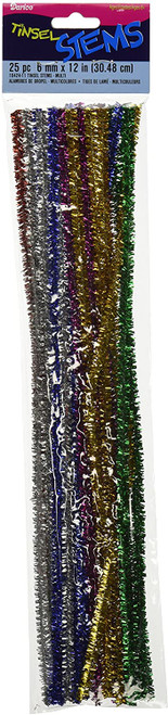 Assorted Color Tinsel Pipe Cleaners