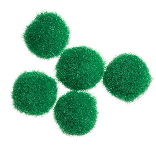 Pom Poms Kelly Green  .5 inch-100 pieces
