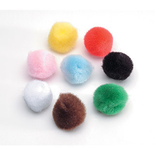 "Pom Poms mulitcolor .5""-100 Pieces"