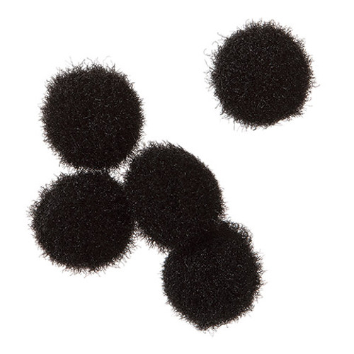 Pom Poms Black .5 Inch-100 Pieces