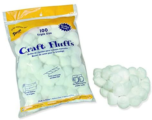 Craft Fluff White 100/Bag
