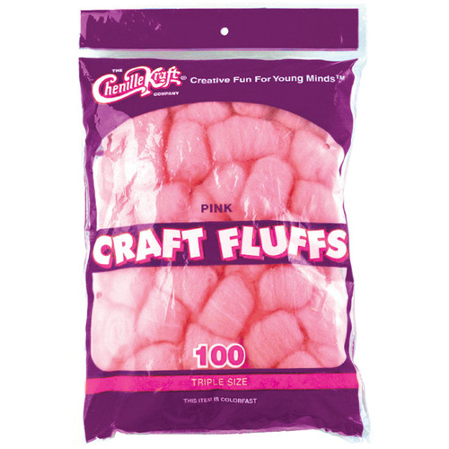 Craft Fluff Pink 100/Bag