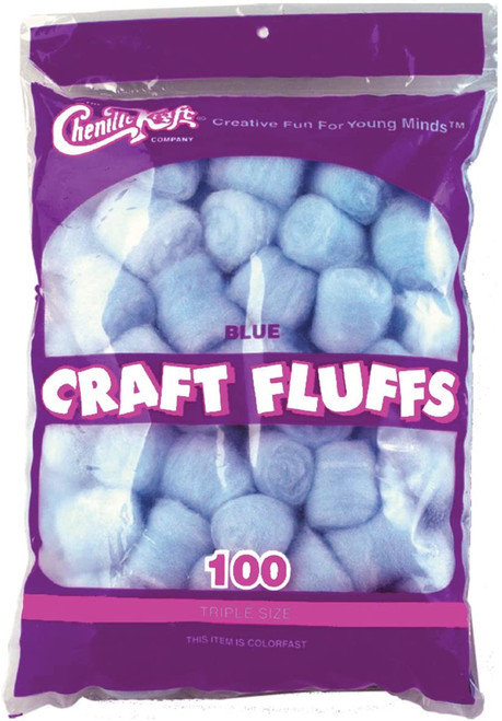 Craft Fluff Blue 100/Bag