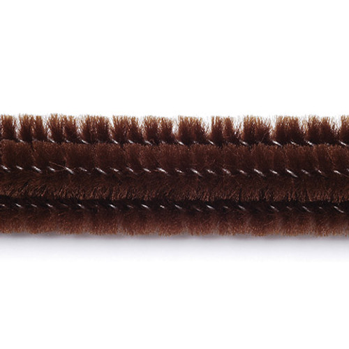 Chenille Stekms Brown 25 Pieces