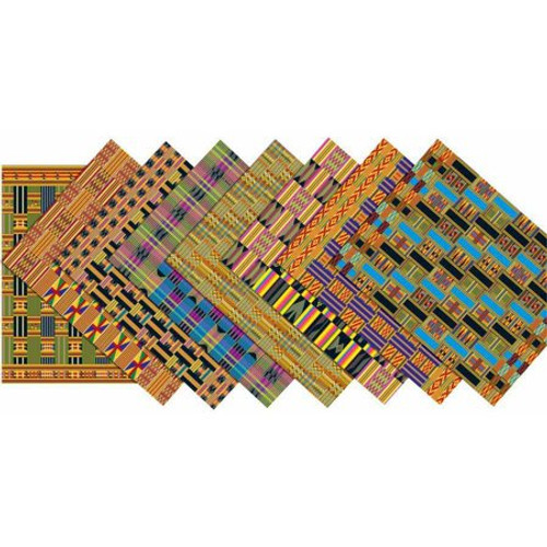Assorted Design African Textile Paper