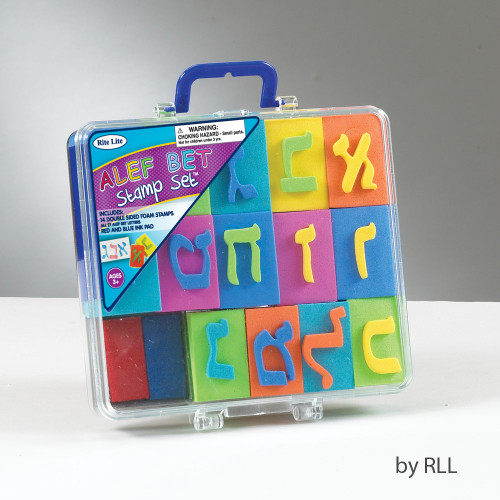 Alef-Bet Stamp Set in Carrying Case