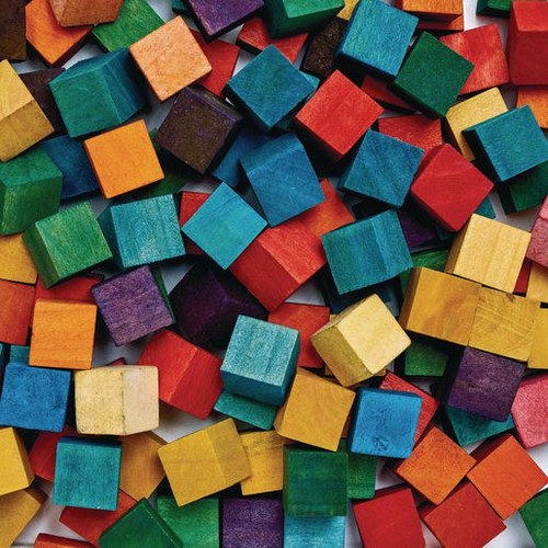 Colored Wood Cubes