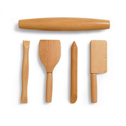 Wooden Sculpting Tools Set of 5