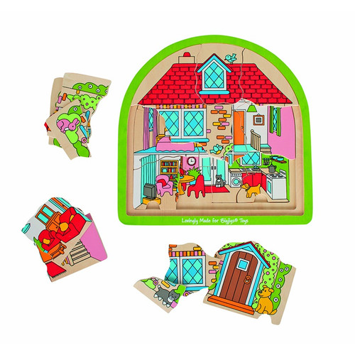 House Multi Layer Wood Puzzle