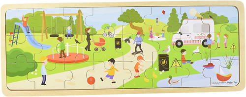 In The Park Puzzle Wooden Tray Puzzle
