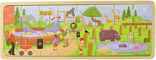 At The Zoo Wooden  Tray Puzzle